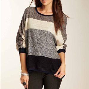 Dex striped dolman sweater